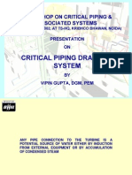 Critical Piping Drainage System