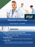Post Partum Haemorrhage