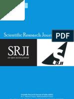 Scientific Research Journal of India SRJI Vol-1 No-4 October-December 2012