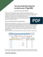 Trier Et Faire Des Recherches Dans Les Comptes Clients Avec VTigerCRM