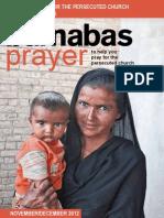 Prayer Diary November/December 2012