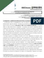 Documento INTEGRACION en ED. FÍSICA  de DEF 2011