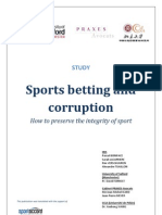 "Sportaccord, ""Sport Betting and Corruption"""