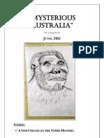 Mysterious Australia Newsletter - June 2012