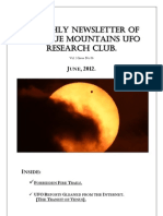 The Blue Mountains UFO Research Club Newsletter - June 2012