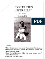 Mysterious Australia Newsletter - March 2012