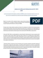 LABORATORIOS QUINTON OBTIENE LA CERTIFICACIÓN ISO 14001