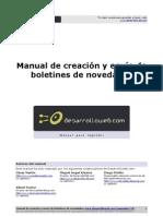 Manual Creacion Envio Boletin Novedades