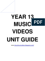 Year 13 Music Videos Booklet