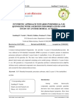 Synthetic Approach Towards Pyrimido [4, 5-b] Quinoline With 2-Substituted Derivatives and Study of Antimicrobial Activity