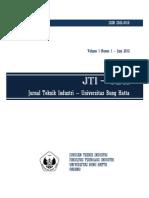 JTI-UBH Vol 1 Juni 2012