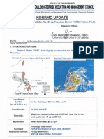 NDRRMC Update on Severe Weather Bulletin No. 8 Re Tropical Storm OFEL (Son-Tinh)