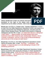 Three Emails • Benghazi Alerts