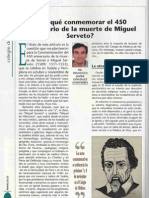 """""""Why we celebrate the 450 Anniversary of Servetus's death."""" Magacine of the Medical Association of Navarre"""