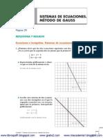 Sistemas de Ecuaciones Mc3a9todo de Gauss Soluciones Anaya 2c2ba Bachillerato t Www Gratis2 Com