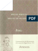 Passion and death of Michael Servetus (theatre play in one act) -  Tudela commemoration of the 450th anniversary of the death of Michael Servetus, 1553