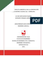 Estudio de Impacto Ambiental para un Proyecto Vial