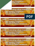 Diwali Event Template Tickets