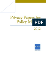 2012_Privacy Papers for Policy Makers