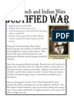 justified war handout 2012-13