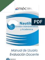 Manual de Usuario Nautilus - Evaluacion Docente