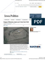 Image of Romney Crops Up in Iowa Farm Field