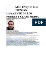 21 Formas en Que Los Ricos Piensan Diferente de Los Pobres y Clase Media