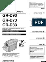 Jvc Gr-d33us Manual