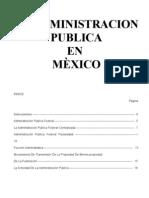 La administracion Publica en Mexico