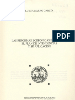 Las Reformas Borbonicas en Ameria, El Plan de Intendecias y Su Aplicacion