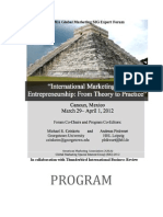 American Marketing Association Global Marketing SIG 2012 Program and Proceedings 03-27-20121