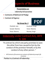 Indemnity Bailment Pledge Guarantee