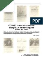 1. Gustavo Bell Lemus_Cosme o una introducción al siglo XX de Barranquilla_Revista Huellas
