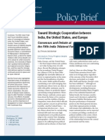 Toward Strategic Cooperation between India, the United States, and Europe