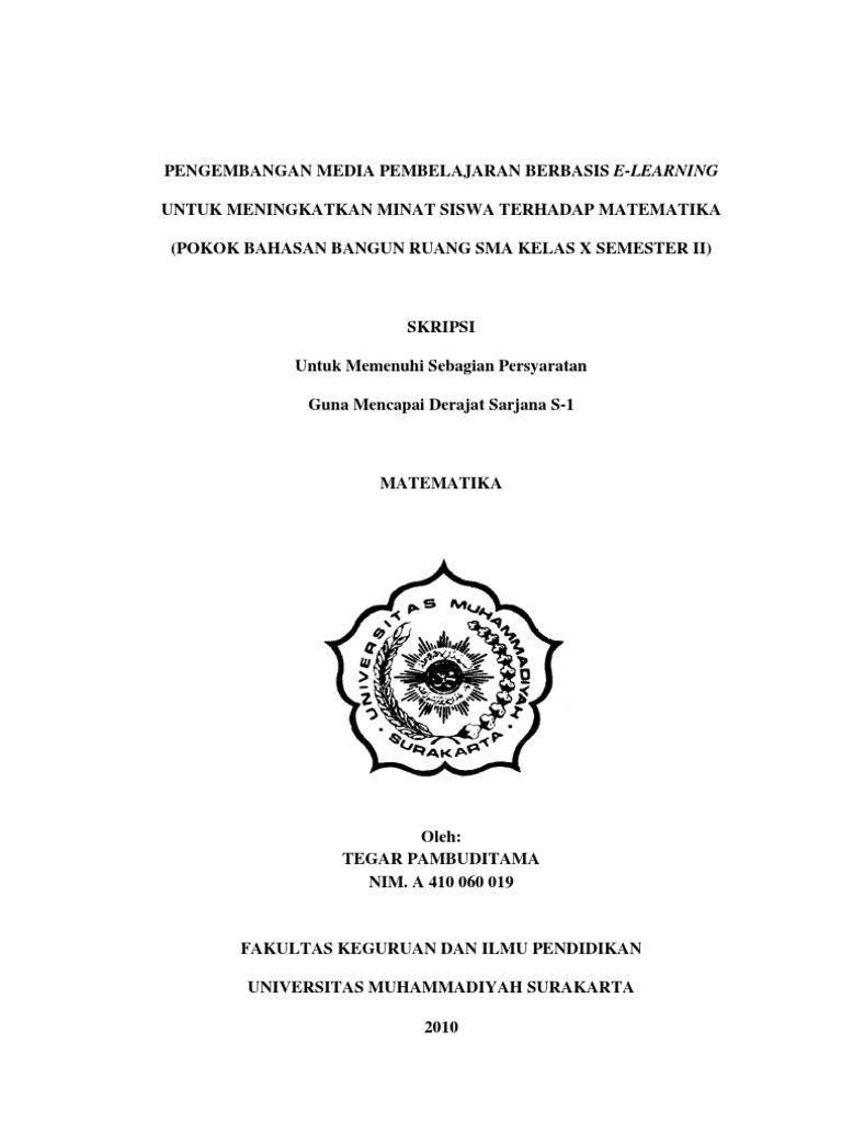 Judul Skripsi Pendidikan Matematika Pengembangan Ide Judul Skripsi Universitas