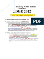Changes in edge 2012