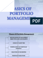 Basics of Portfolio Management