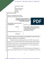 SEC v Gold Standard Mining Et Al Doc 31 Filed 23 Oct 12