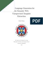 Natural Language Generation for the Semantic Web