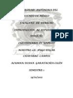 Cuestionario Introduccion Al Estudio Del Derecho