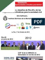 Oportunidades Sociedad Civil Rio+20 Bolivia