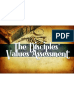 the disciples values assessment