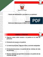 TRATA DE PERSONAS Y ACCESO A LA JUSTICIA - Mayda Ramos