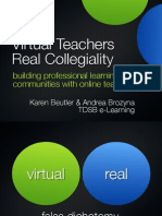 Virtual Teachers Real Collegiality ECOO 26-Oct-2012
