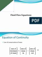 Fluid Flow Equations