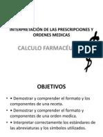 PROF. F. BARRIOS (INTERPRETACIÓN DE LAS PRESCRIPCIONES Y ORDENES PD)