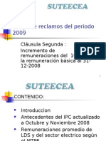 SUTEECEA Pliego de Reclamos 2009
