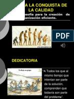 PRESENTACIÓN HACIA LA CONQUISTA DE LA CALIDAD