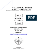 Hebreos Católicos - Hebrew Catholic Luach 2011-2012 (Calendario litúrgico católico 2011-2012)