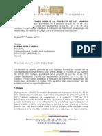 PONENCIA PRIMER DEBATE  P.L. 47-12